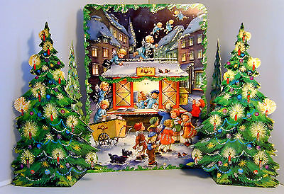 Engelchens Postamt Glitzernder Kulissen-Adventskalender Pop-up Reprint1984 11209