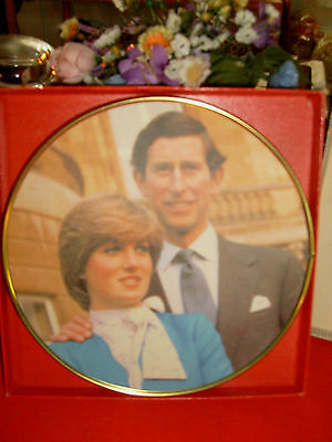RARE-ROYAL COUPLE COCKTAIL TRAY-CHARLES&DIANA MARRIAGE-7/29/1981-EXCELLENT-NIB