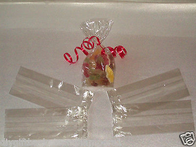 "9""x 3"" clear cellophane gift bags Easter Eggs Food Sweet Hampers Wedding Favours"