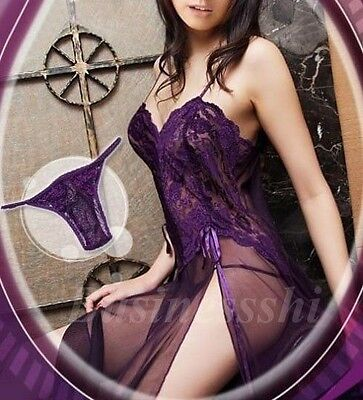 Plus size Sexy Dresses Lingerie Nightgown Evening Gown Babydoll S-6XL