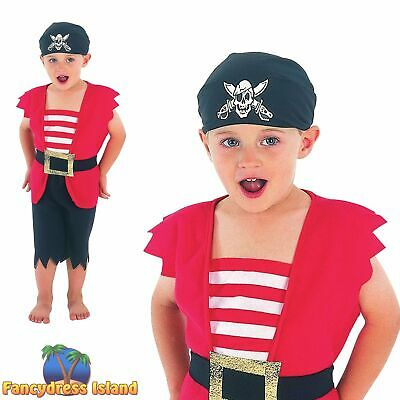KIDS PIRATE BUCCANEER DECK HAND - Age 2-3 - boys toddler fancy dress costume