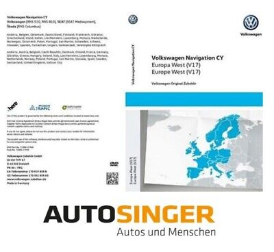 VW Navigations CY DVD Europa West V15 für RNS 510/810 Neuste Version 2018  *NEU*