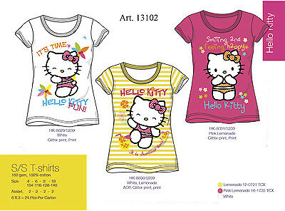 Offerta Maglietta T.shirt Bimba Hello Kitty Originale Colorata Cotone