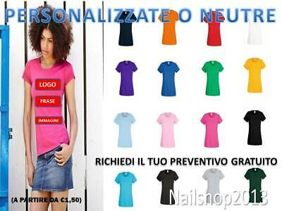 T-Shirt Donna Manica Corta Valueweight Fruit Of The Loom Personalizzabile
