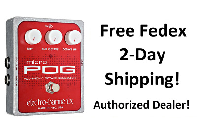 New Electro-Harmonix EHX Micro Pog Polyphonic Octave Generator Effects Pedal!