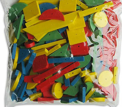 240 Wooden Mosaic Shapes with a hole - for use with hammer & nail tap tap sets