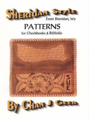 Sheridan Style Checkbook Leather Patterns by Chan Geer (Leathercraft Designs)