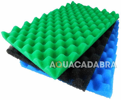 Replacement Green Genie Lotus 24000 Fish Filter Foam Sponge Filter Media Set Koi