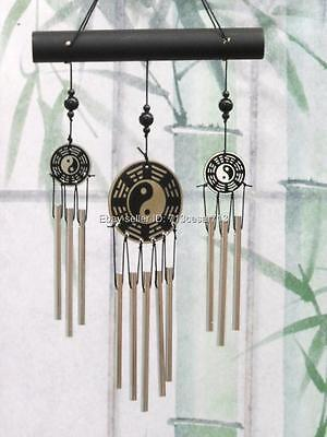 YIN YANG Bagua Feng Shui Chinese Oriental Lucky Wind Chime Home Office #G12