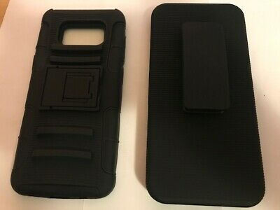 For Samsung Galaxy S8 Holster Combo Case Cover Belt Clip + w/Kick Stand Slim