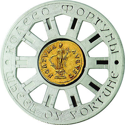 WHEEL of FORTUNE 1$ Niue Island 2014 Silver Coin