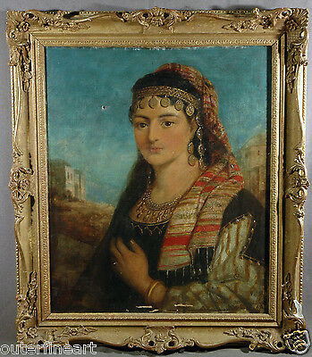19th Century Oil Painting of North African Woman signed Robert Kemm (BRITISH)