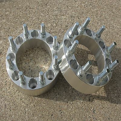 """2pc 8x6.5 Wheel Spacers   2""""   9/16"""" studs   8 lug Adapters Dodge Ford"""