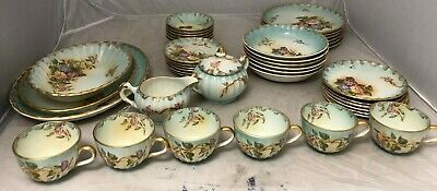 Lecot W S George 41 Pc Set Morning Glory Dinnerware Service For 6 U. S. A. China