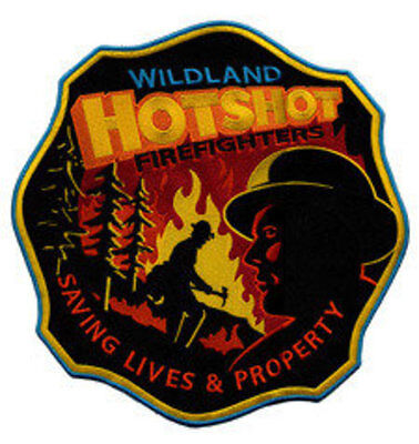 """Hotshot Firefighter, Real American Super Heroes 12"""" Circle sew on high quality E"""