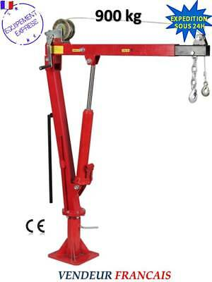 Grue De Levage Pliable Pivotante 0,9T Pick Up Bras Reglable + Treuil