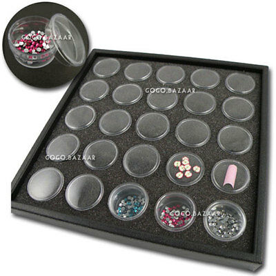 Empty Case Container Box Nail Art Rhinestone Makeup Decoration Display Tool #362