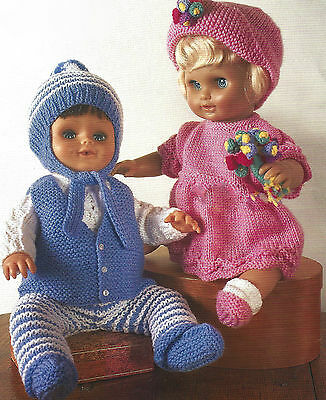 DOLL PREMATURE BABY KNITTING PATTERN 12/22 INCH GIRL/BOY (254)