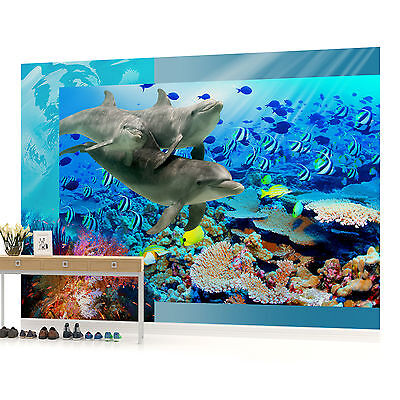 WALL MURAL PHOTO WALLPAPER PICTURE (72VE) Dolphin Bedroom Boys Girls Children