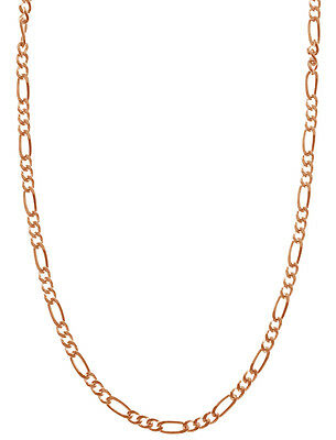 Rose Gold Plated .925 Sterling Silver 1.7mm Italian Figaro Chain - ALL SIZES
