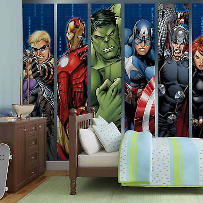 WALL MURAL PHOTO WALLPAPER PICTURE (964VEVE) Disney Avengers Boys Bedroom