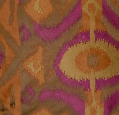 RUBELLI Pallas Central Asian Ikat Fuchsia Rust Italy Remnant New