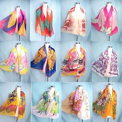 *US Seller* lot of 5 Buy Scarves Wholesale chiffon scarf wrap