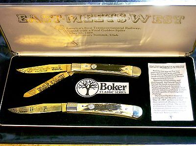 Boker Stag Trapper 1969 Limited Edition Gold Plated #447 Promontory Summit Utah