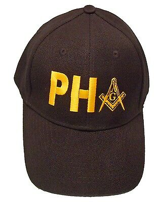 PHA Prince Hall Mason Hat Cap Embroidered in the USA 891PC-BLK
