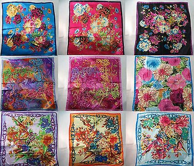 *US Seller*lot of 12 retro bohemian silky satin square scarf