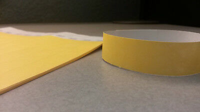"""250 3/4"""" Tyvek Wristbands - Neon Yellow - Event Party Security Festival Club Bar"""