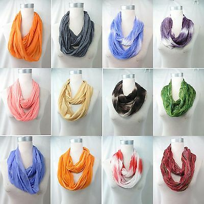 *US Seller* lot of 10 wholesale tie dye flower animal print infinity scarf