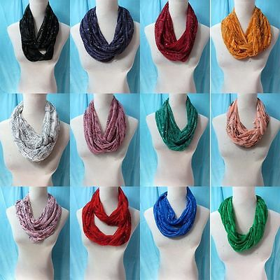 *US Seller*lot of 10 wholesale spring summer fall all seasons infinity scarf