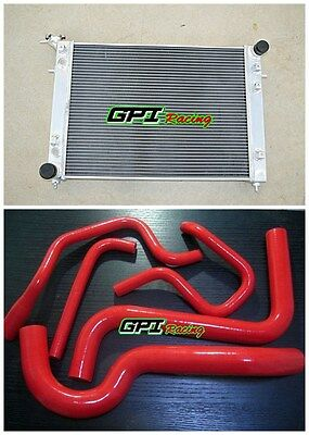 For HOLDEN Commodore VS V6 3.8L AT/MT Aluminum Radiator & Silicone Hose RED