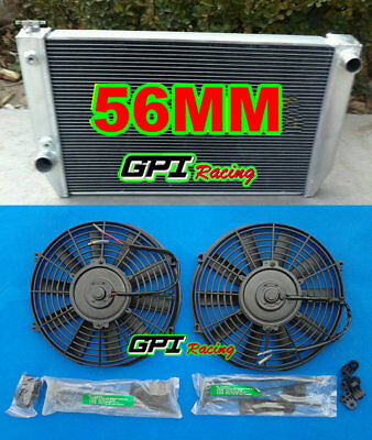 Aluminum Radiator For FORD Falcon XC XD XE XF V8 or 6 cylinder Auto/Manual + FAN