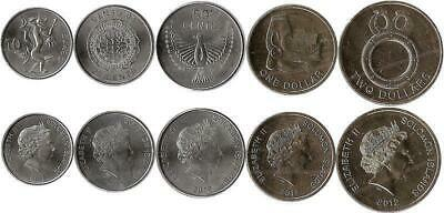 Salomonen 10, 20, 50 Cents, 1, 2 Dollars 2012