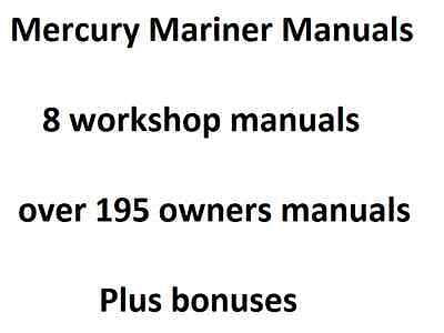 Mercury Mariner Outboard 75HP - 275HP 1990-1997 Service Manual + Lots More DVD