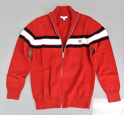 New Authentic Gucci Long Sleeve Zip-Up Jacket Sweater, 8, 270694