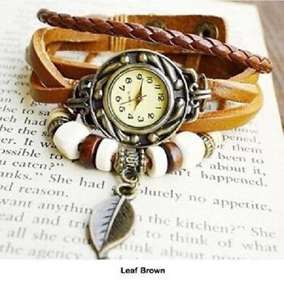 25 NEW Women's Retro Leather Bracelet Watches - FREE SHIPPING