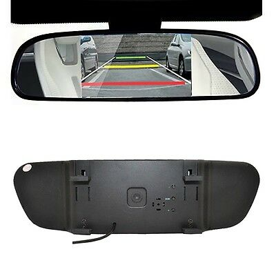 """5"""" Digital Color TFT LCD Car Rearview Mirror Reverse Monitor For Backup Camera"""