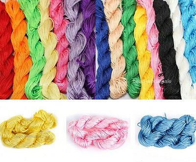 27Meters Candy Color Premium Nylon Macrame Cord Thread For Jewelry Making