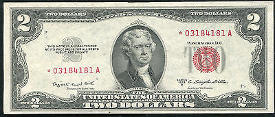 1953-B $2 TWO DOLLARS RED SEAL *STAR* UNITED STATES NOTE SUPERB CRISP