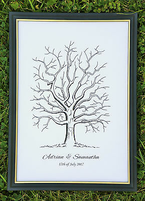 Personalised A3 Fingerprint Tree Guest Book / Wedding / Birthday / Christening A