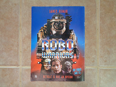 James Remar_Robo Warriors ad_MAGAZINE CLIPPINGS CUTTINGS_ships from AUSTRALIA_N7
