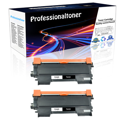 2PK New Brother TN450 High Yield Toner Cartridge Compatible for HL-2132 Printer