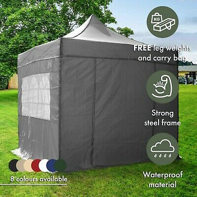 Airwave 3x3m Waterproof Garden Pop Up Gazebo, Bag, 2 Windbars & 4 Leg Weight Bag