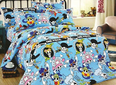 One Piece Duvet Cover Pillow Case Fitted Sheet Bedding SET