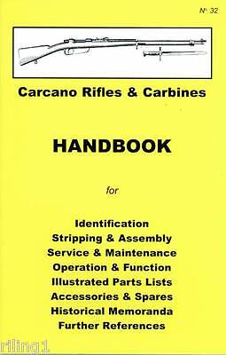 Carcano Rifle & Carbines Assembly, Disassembly Owner's Manual # 32