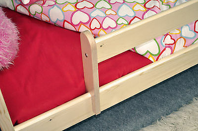 Wooden Safety Bed Baby/Toddler/Kids Bedding Safety Guard Rail Various Colour