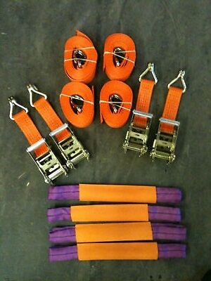 4 X 4 Meter Car Transporter Recovery Straps for flatbed trailers